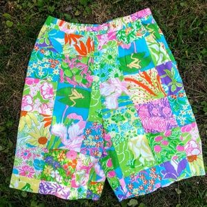 Vintage Lilly Pulitzer Patch Floral Bermuda Shorts